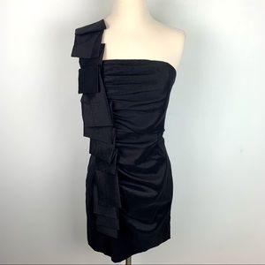 Jessica McClintock Black Vintage Mini Dress, 8
